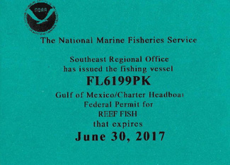 ANGLING ADVENTURES REEF PERMIT 2017