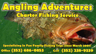 Angling Adventures Business card